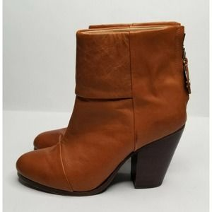Rag & Bone Newbury Ankle Boots Leather Brown